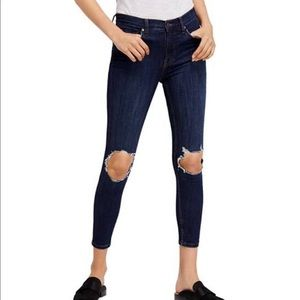 Free people busted knee skinny jeans size 26